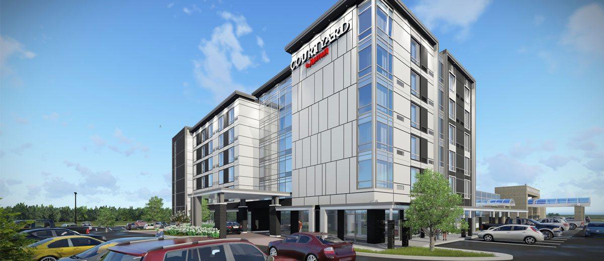 Αποτέλεσμα εικόνας για Courtyard by Marriott breaks ground in Burlington